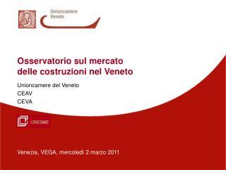Osservatorio sul mercato delle costruzioni nel Veneto