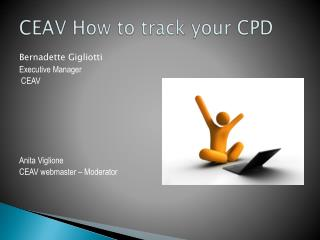 CEAV How to track your CPD