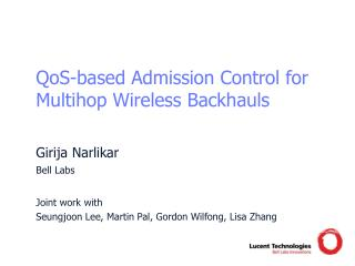 QoS-based Admission Control for Multihop Wireless Backhauls