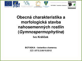 Obecná charakteristika a morfologická stavba nahosemenných rostlin ( Gymnospermophytina )