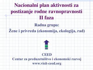 Nacionalni plan aktivnosti za postizanje rodne ravnopravnosti II faza