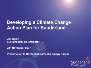 Developing a Climate Change Action Plan for Sunderland