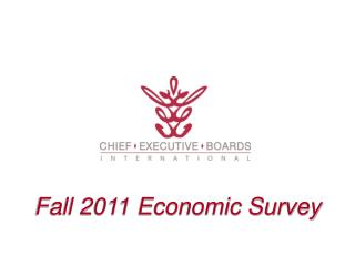 Fall 2011 Economic Survey