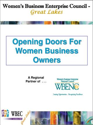 Opening Doors For Women Business Owners