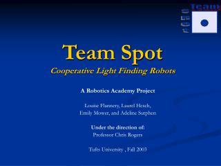 Team Spot Cooperative Light Finding Robots
