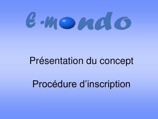 Présentation du concept Procédure d'inscription