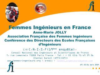 C/O C.N.I.S.F(19 ème  enquête). Conseil National des Ingénieurs et Scientifiques de France