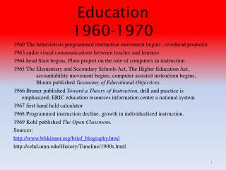 Education 1960-1970