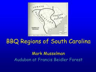 BBQ Regions of South Carolina