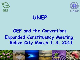 UNEP GEF and the Conventions Expanded Constituency Meeting, Belize City March 1-3, 2011