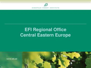 EFI Regional Office  Central Eastern Europe