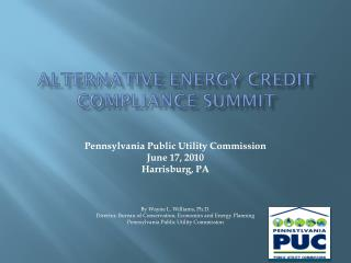 Alternative energy credit compliance summit