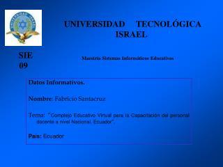 Complejo Educativo Virtual Ecuador 2009