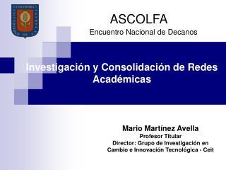 Investigación y Consolidación de Redes Académicas