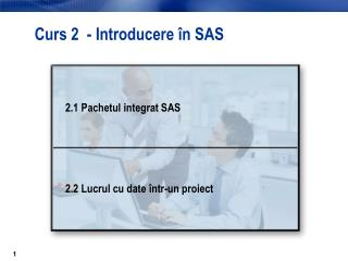 Curs 2  - Introducere  în SAS