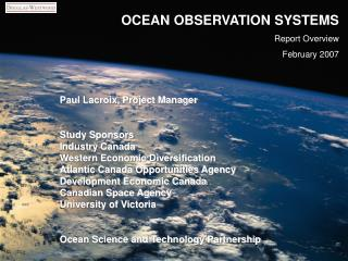 OCEAN OBSERVATION SYSTEMS Report Overview February 2007
