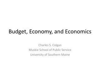 Budget, Economy, and Economics