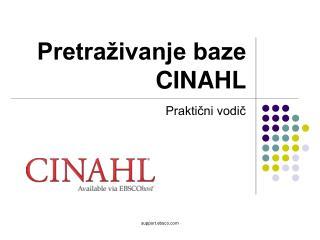 Pretraživanje baze CINAHL