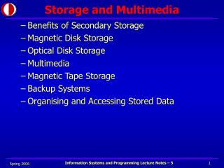 Storage and Multimedia