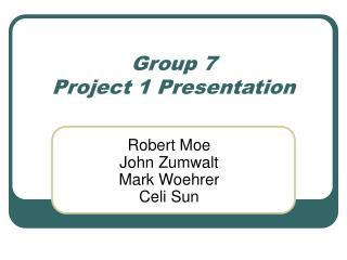 Group 7 Project 1 Presentation