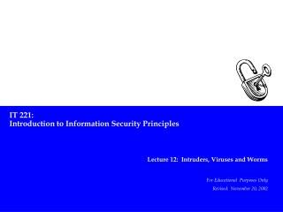 IT 221: Introduction to Information Security Principles