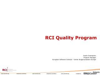 RCI Quality Program