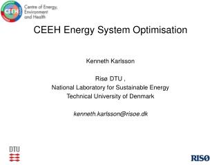 CEEH Energy System Optimisation