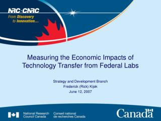 Measuring the Economic Impacts of Technology Transfer from Federal Labs