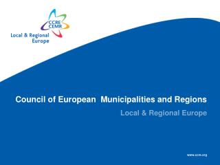 Council of European  Municipalities and Regions