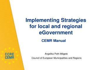 Implementing Strategies  for local and regional eGovernment