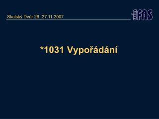 *1031 Vypořádání