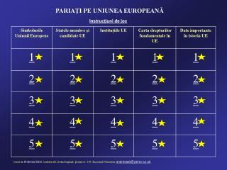 PARIAŢI PE UNIUNEA EUROPEANĂ