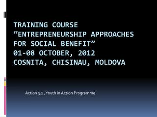 Action 3.1 , Youth in Action Programme