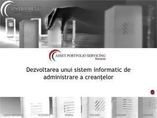 Dezvoltarea unui sistem informatic  de  administrare  a  crean ţ elor