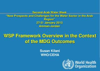 "Second Arab Water Week ""New Prospects and Challenges for the Water Sector in the Arab Region"""
