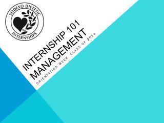 internship 101 Management