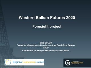 Western Balkan Futures 2020 Foresight project