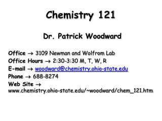 Chemistry 121
