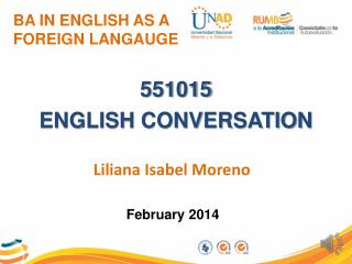 BA IN ENGLISH AS A FOREIGN LANGAUGE