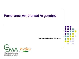 Panorama Ambiental Argentino