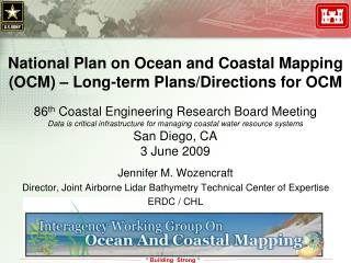 National Plan on Ocean and Coastal Mapping (OCM) – Long-term Plans/Directions for OCM