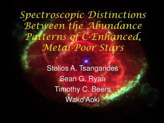 Spectroscopic Distinctions Between the Abundance Patterns of C-Enhanced, Metal-Poor Stars