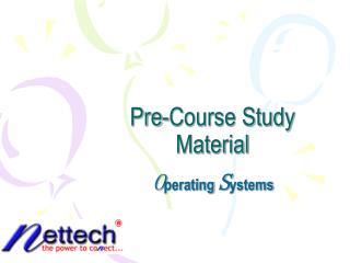 Pre-Course Study Material