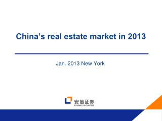China's real estate market in 2013