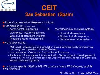 CEIT San Sebastian  (Spain)