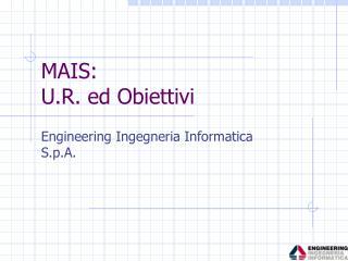 MAIS:  U.R. ed Obiettivi