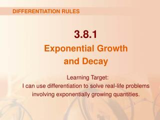 3.8.1 Exponential Growth  and Decay