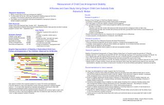 Measurement of Child Care Arrangement Stability: