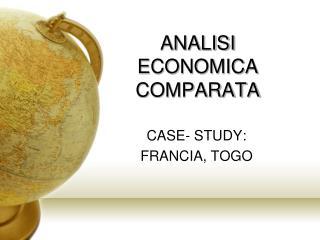 ANALISI  ECONOMICA COMPARATA