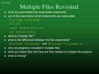 what are executable/non-executable statements